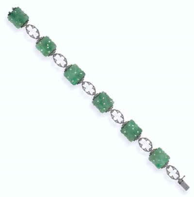BRACELET JADE ET DIAMANTS