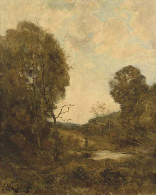 HENRI-JOSEPH HARPIGNIES (VALENCIENNES 1819 - 1916 SAINT-PRIVE)