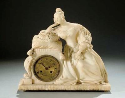 PENDULE ROMANTIQUE VERS 1830