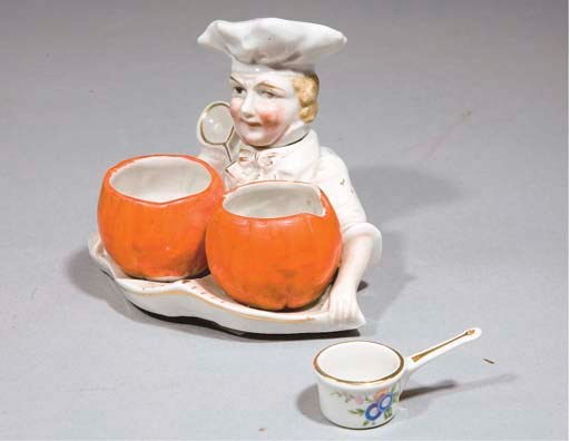 POT A CONDIMENTS EN PORCELAINE