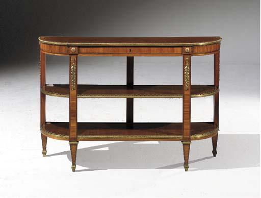 petite console desserte d 39 epoque louis xvi estampille de martin carlin christie 39 s. Black Bedroom Furniture Sets. Home Design Ideas