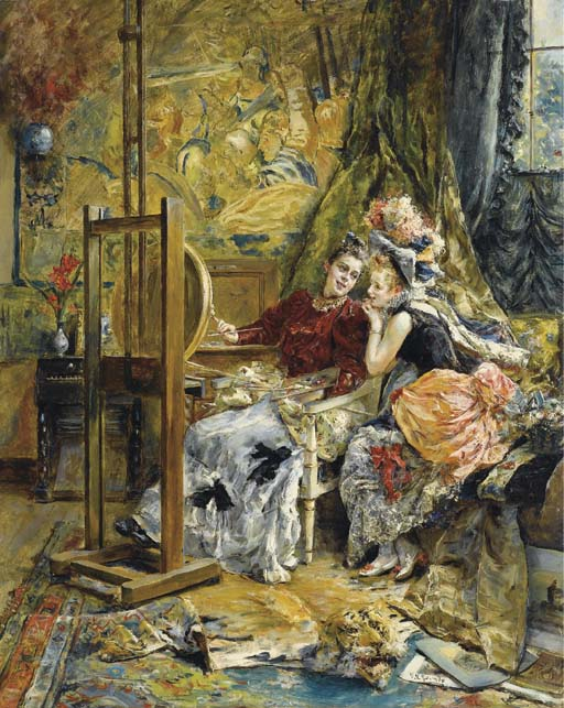 eduardo leon garrido madrid 1856 1949 caen l 39 artiste et l 39 admiratrice christie 39 s. Black Bedroom Furniture Sets. Home Design Ideas