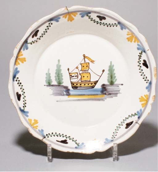 ASSIETTE EN FAIENCE REVOLUTIONNAIRE DE NEVERS DE LA FIN DU XVIIIEME SIECLE