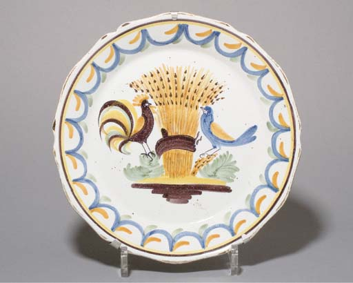 ASSIETTE EN FAIENCE DE NEVERS DE LA FIN DU XVIIIEME SIECLE