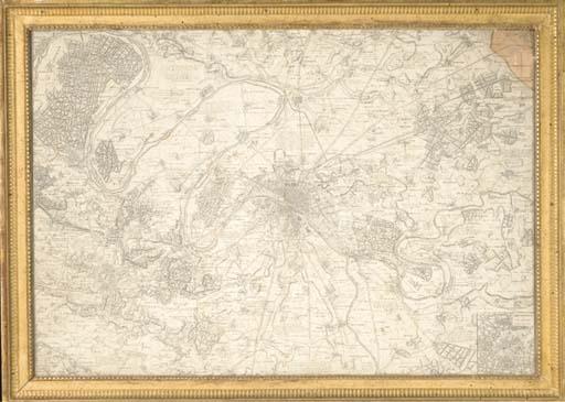 Paris et ses districts. Plan d
