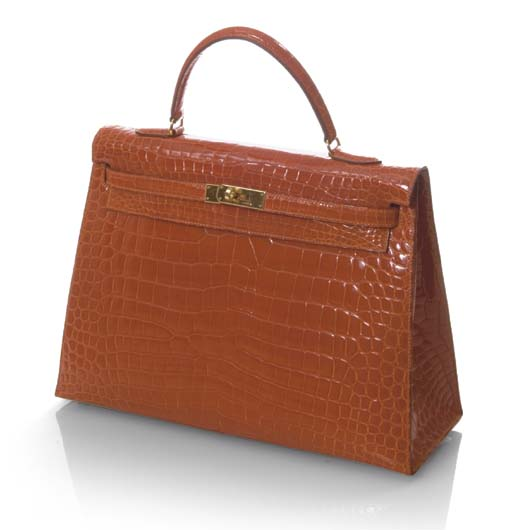 Sac Kelly en crocodile de couleur orange   GRIFFÉ HERMÈS   Christie s 2ecc98df123