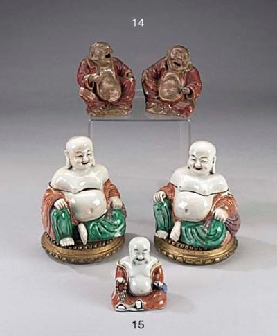 COPPIA DI BUDDHA IN PORCELLANA