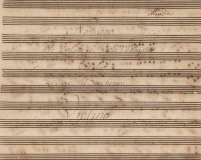 BOCCHERINI, Luigi (1743-1805).