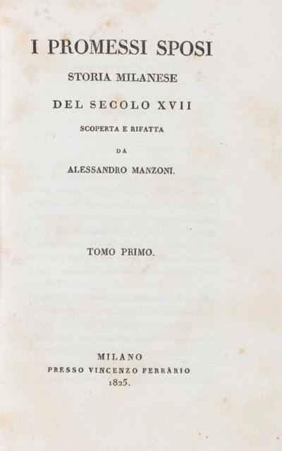 MANZONI, Alessandro. I promess