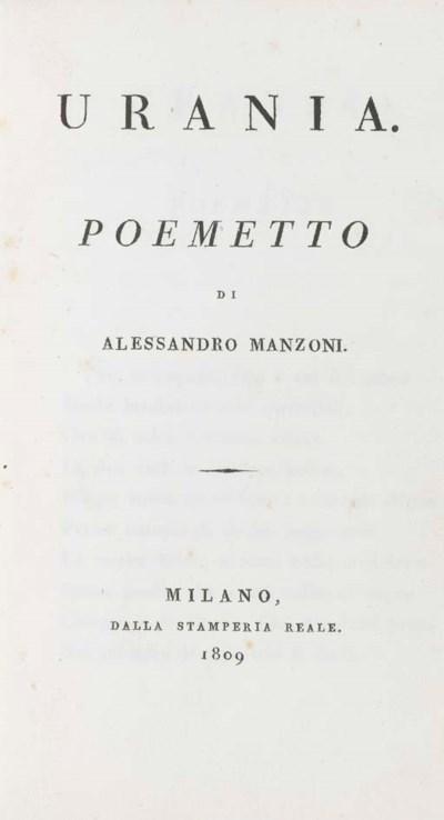 MANZONI, Alessandro. Urania. M