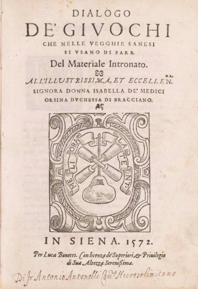 SIENA - BARGAGLI, Girolamo. Di