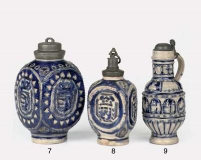 A Westerwald stoneware pewter-