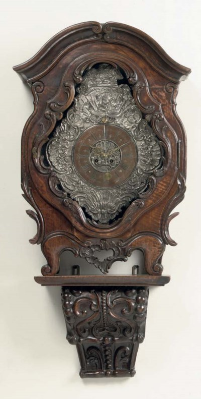 A GERMAN SILVERED AND REPOUSSE