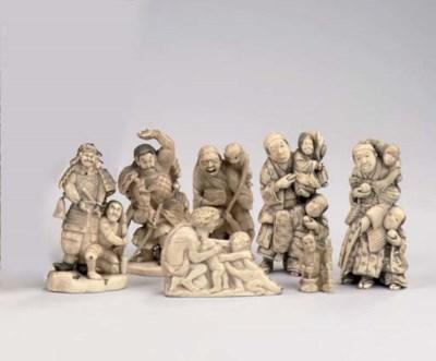 A GROUP OF SIX JAPANESE OKIMON