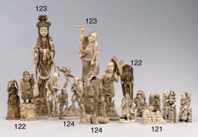 TWO IVORY FIGURES