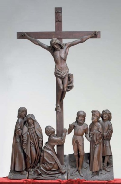 A CARVED LIMEWOOD GROUP OF THE