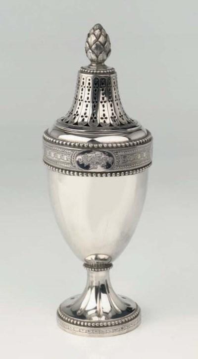 A Dutch silver sugar-caster
