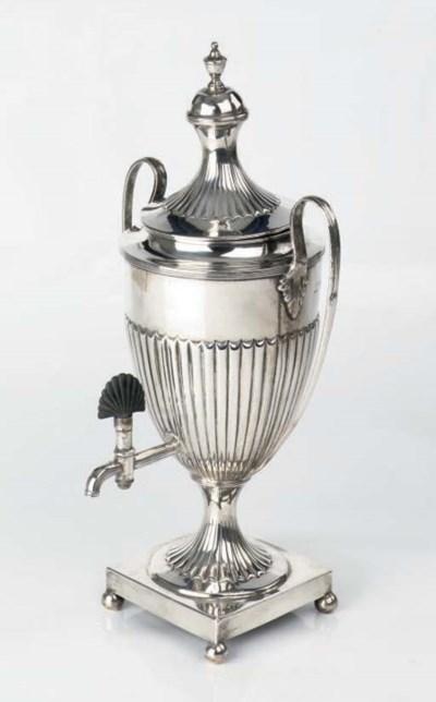 A Victorian English silver cof