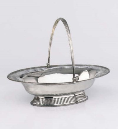 An English silver cake-basket