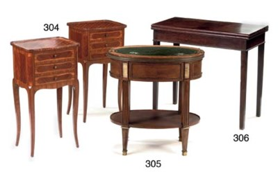 A PAIR OF FRENCH MAHOGANY AND