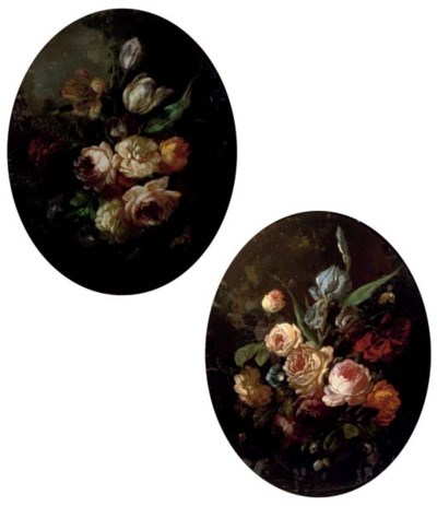 A PAIR OF REVERSE-GLASS PAINTI