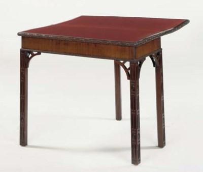 AN ENGLISH MAHAGONY GAMES TABL