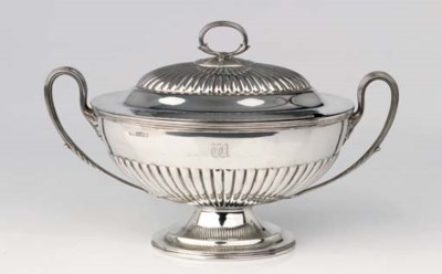 An English silver two-handled