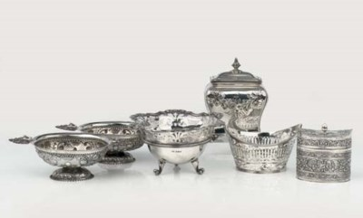 Six English and Dutch silver o