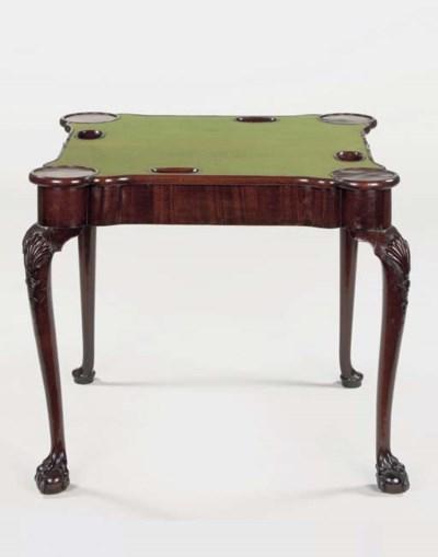 A DUTCH MAHAGONY GAMES TABLE