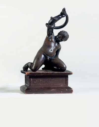 A BRONZE MODEL OF THE INFANT H