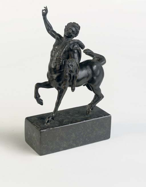 A BRONZE MODEL OF ONE OF THE F
