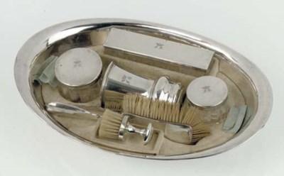 An Austrian silver basin with