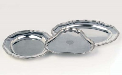 Three German silver serving-di