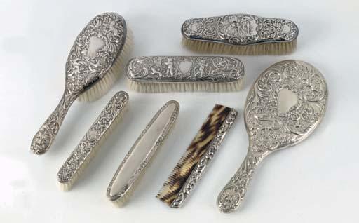 A group of various silver-moun
