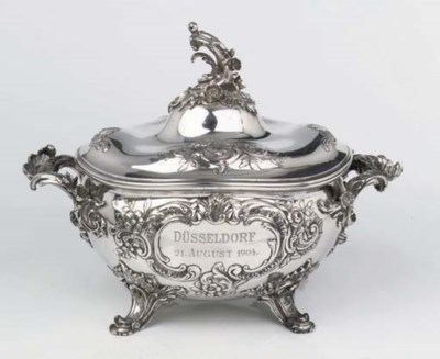 A German silver tureen
