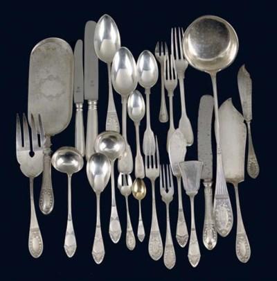 A quantity of silver flatware