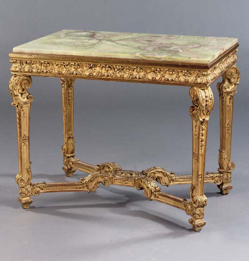 A FRENCH GILTWOOD CENTRE TABLE