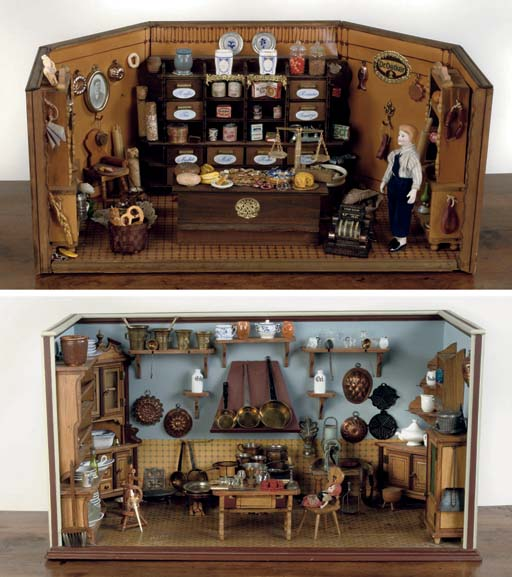 A GERMAN WOODEN TOY BAKERY SHO