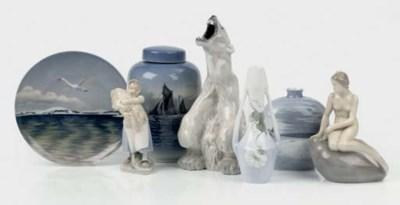 Seven Royal Copenhagen objects