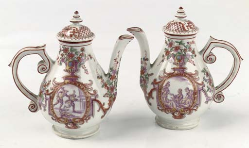 A pair of Vienna (Du Paquier)
