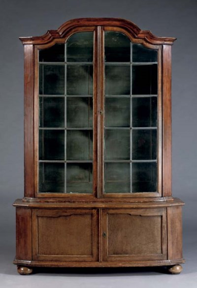 A GERMAN STAINED OAK AND PINE