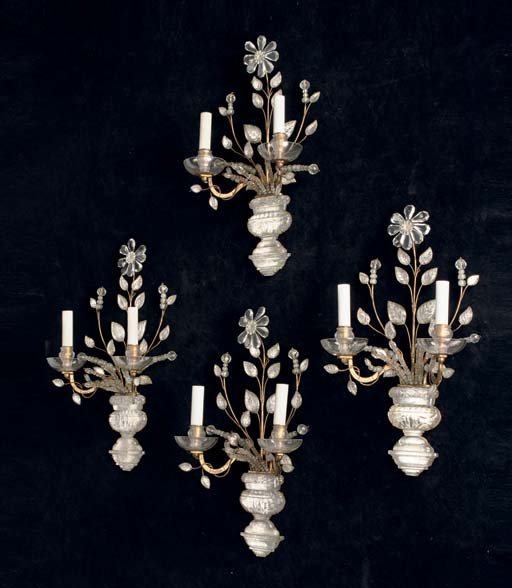 A SET OF FOUR FRENCH MOULDED A