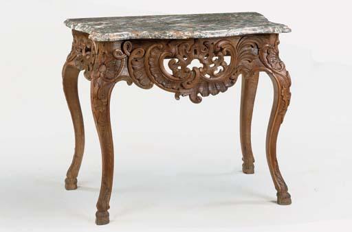 A WEST GERMAN OAK CONSOLE TABL