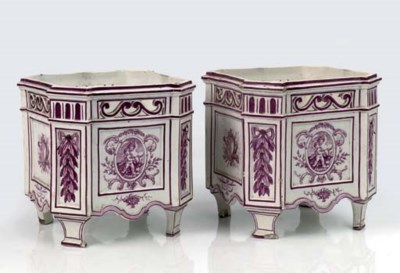 A pair of Gien faience fine tr