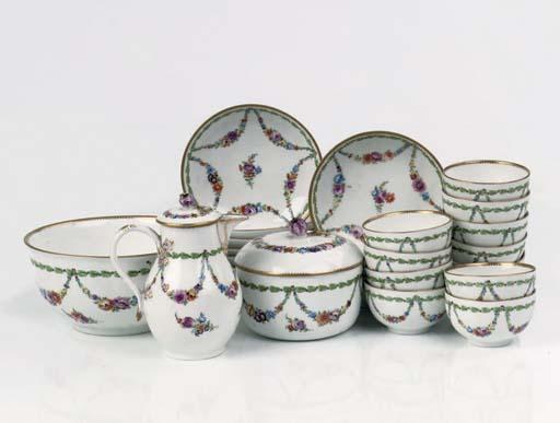 A Meissen (Marcolini) part tea