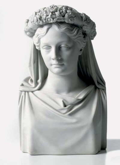 A Berlin (KPM) biscuit bust of