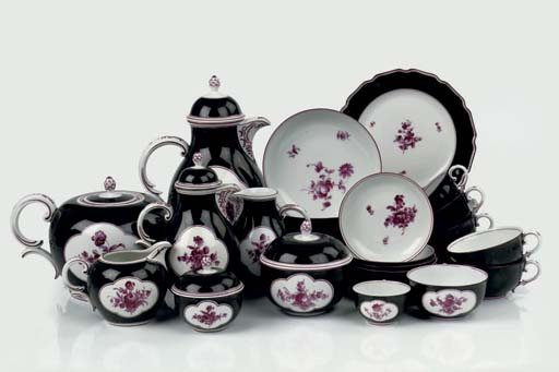 A Nymphenburg coffee and tea s