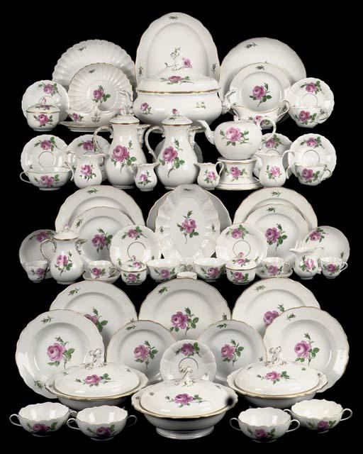 An extensive Meissen assembled