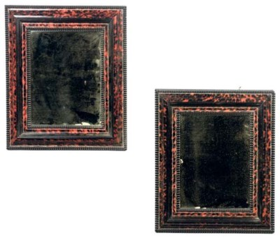 A PAIR OF FRENCH TORTOISESHELL