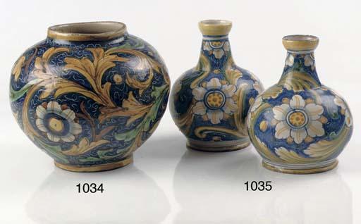 A pair of Sicilian (Caltagiron